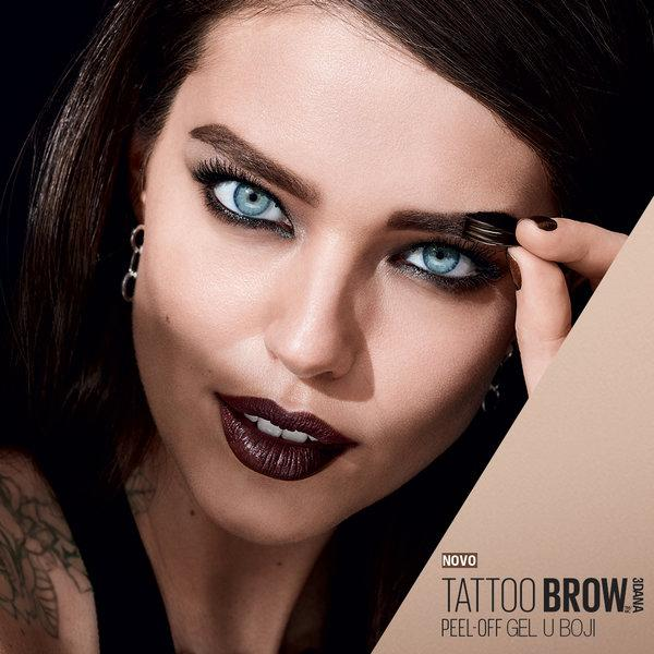 Maybelline Brow Tattoo peel-off gel oblikovanje obrva