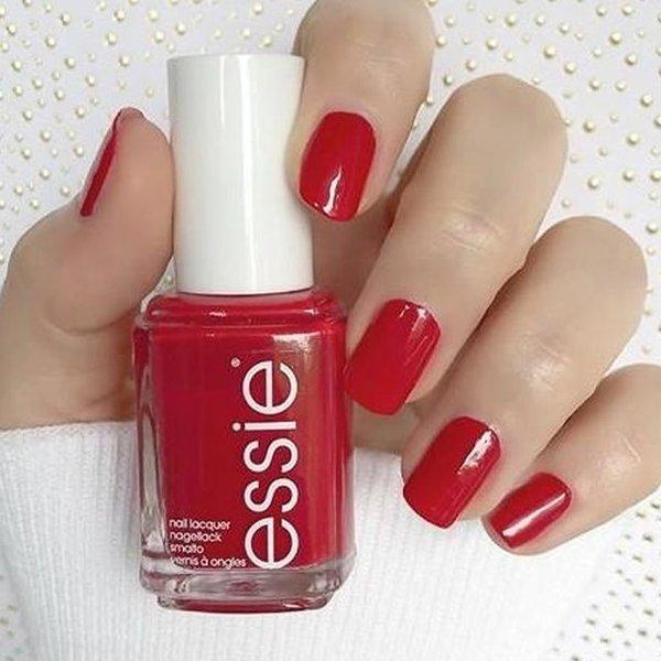 timeless red nails